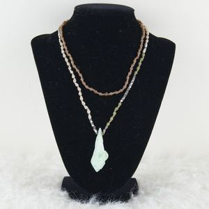Earthbound | Green Stone Necklace
